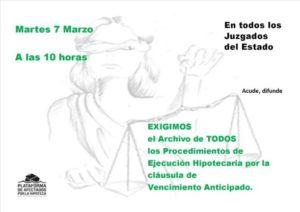 NdP – Dimarts 7 de març la PAH a tots els jutjats de l'Estat