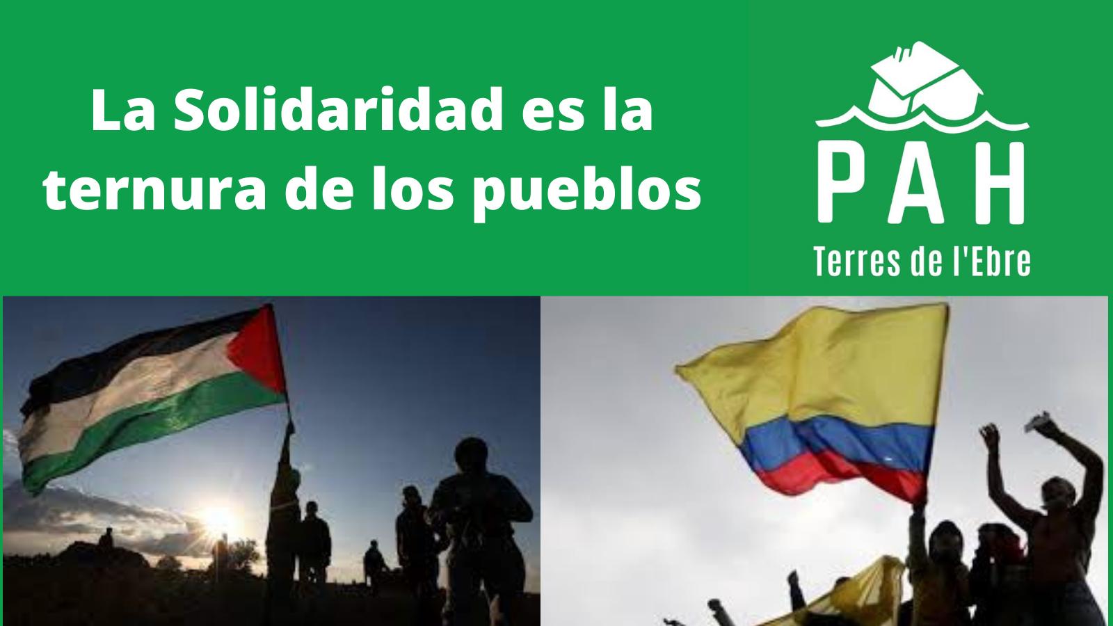 Apoyo absoluto a Palestina y Colombia