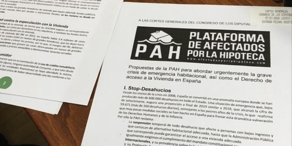La PAH tenemos un plan para garantizar la vivienda para todas