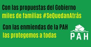 Hoy se acaba de publicar la 7ª prórroga del plazo de enmiendas al «Proyecto de Ley de medidas urgentes complementarias en el ámbito social y económico para hacer frente al COVID-19» demostrando que la urgencia de las familias nunca estará como prioridad en la agenda política.