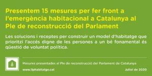 El Grupo Promotor de la Ley 24/2015 presentamos nuestras propuestas por el Pleno de Reconstrucción