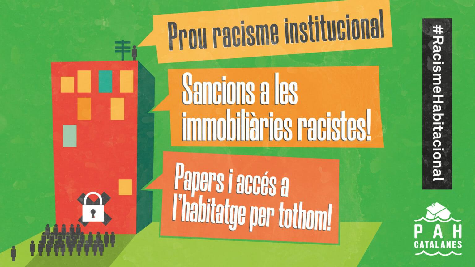 El racismo institucional niega el derecho a la vivienda