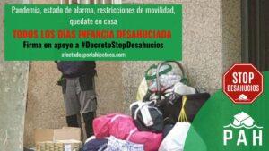 Documento a Abalos y compromiso político para acabar con los desahucios