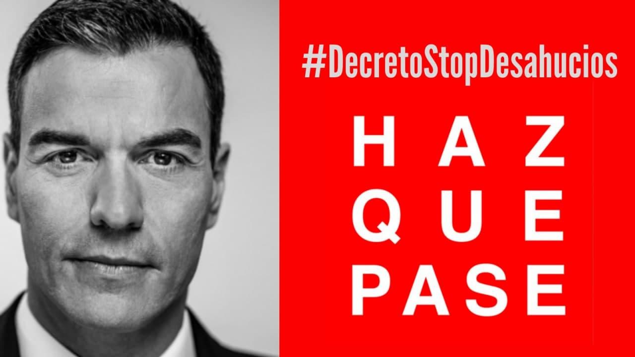 Siguen los desahucios mientras el Gobierno de Pedro Sánchez estudia como rescatar de nuevo a la banca, fondos buitre y grandes propietarios.