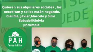 «Alquiler social o revolución» y «Han elegido revolución»