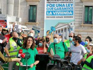 Presentamos y registramos la propuesta alternativa al Gobierno en materia de derecho a la vivienda